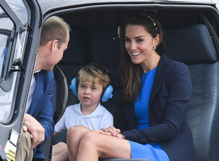 July 8, 2016 ~ Prince George and his parents TRH The Duke and Duchess of Cambridge are shown at George's first official royal engagement as a member of the royal family in the UK: The Royal International Air Tattoo at RAF Fairford. ~ Photo Courtesy of Town & Country Magazine.