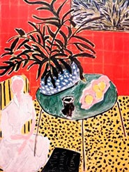matisse interior with black fern