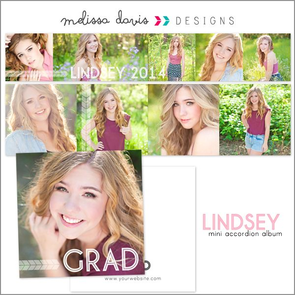 Lindsey mini accordion album - $16.00 : Melissa Davis Designs, Photoshop templates, Card templates, album templates and more for the every day photographer
