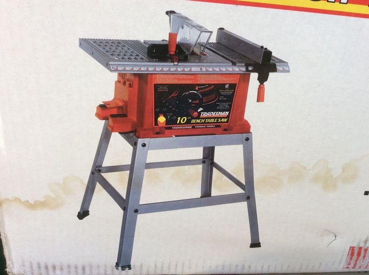 Tradesman Woodworker 10 13 Amp Bench Table Saw With Stand New In Box Bts10bw Bench Table Table Saw Tradesman