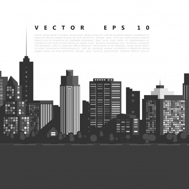 Vector cidade moderna. Vetor grátis