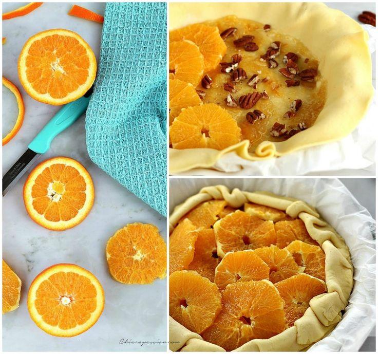 Crostata di arance con noci pecan al profumo di balsamico | Chiarapassion