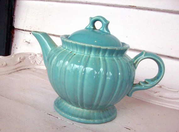 Vintage Teapot STANGL Turquoise Onion Pattern & 118 best Stangl Pottery images on Pinterest   American art 1930s ...