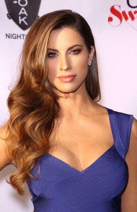 From Katherine Webb on Twitter. Pic from SI Swimsuit press tour! One of my favorite hair and makeup looks. Will say, she kept AJ focused and more importantly is loved by his family!