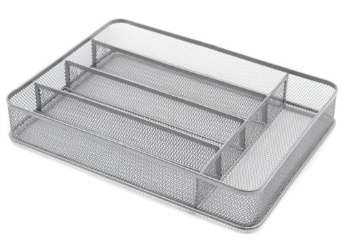 5 Compartment Mesh Flatware Cutlery Trays Storage Kitchen Organizer