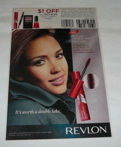 2009 Revlon Coupon Ad Page Jessica Alba Doubletwist Mascara   eBay
