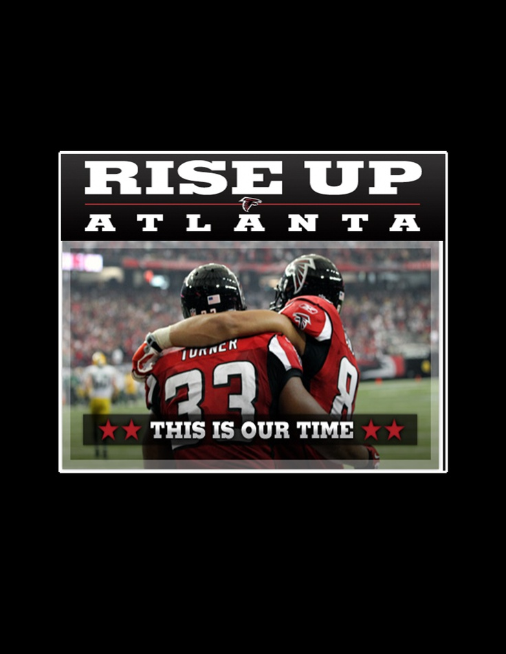 Rise up Atlanta. Falcons going to the Playoffs Jan 13 @ the Georgia Dome!