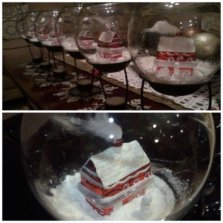 14 best images about snowglobes for Plastic fish bowls dollar tree