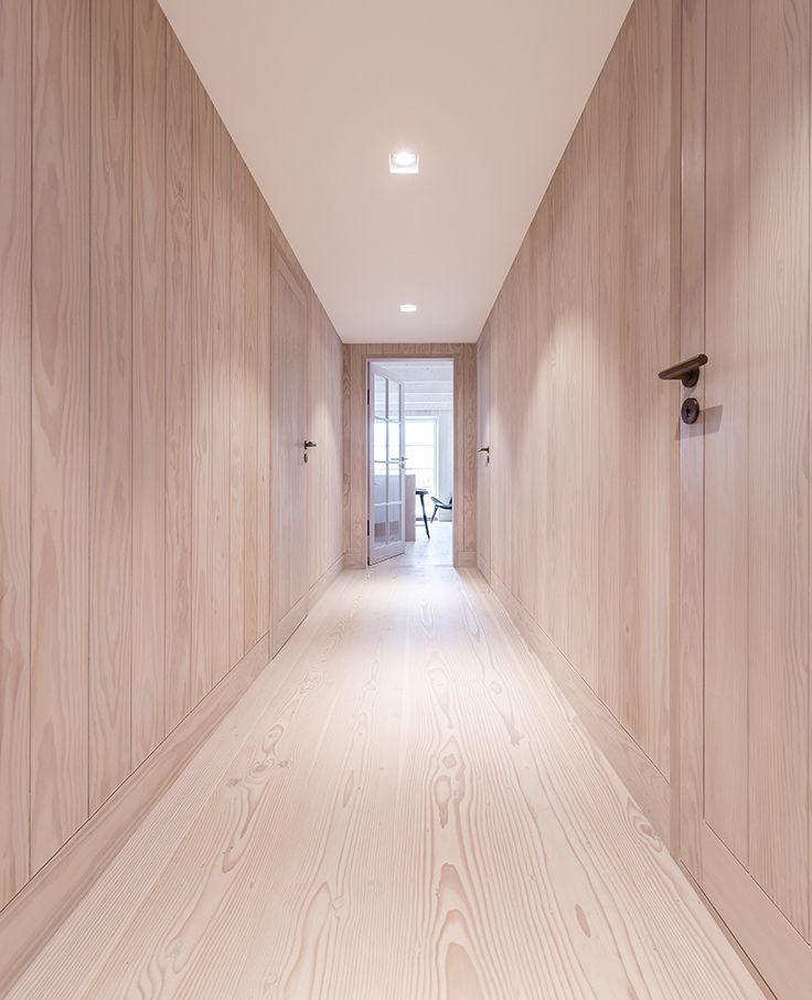 Oregon Pine door integrated with floor and wall.