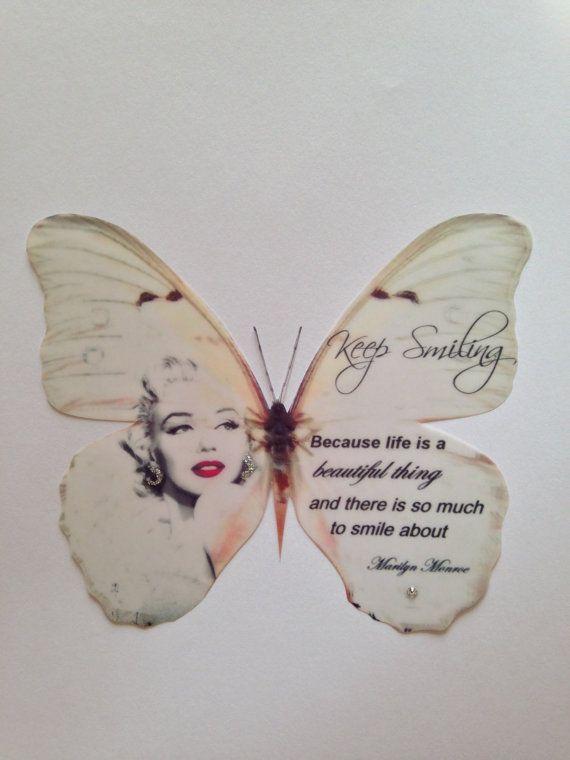 Rojo lápiz labial Marilyn Monroe cotizar por MyButterflyLove