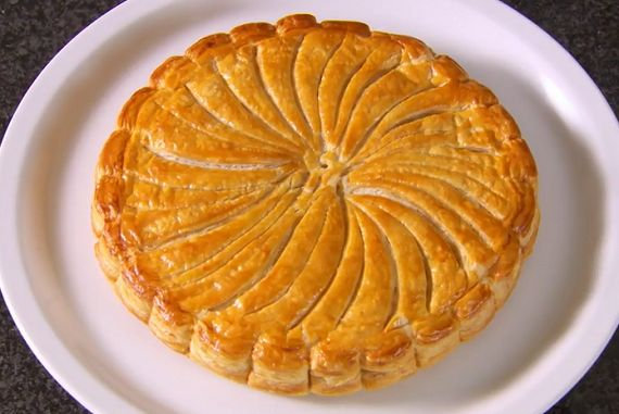 Mary Berry Almond Galette des rois French cake recipe on The Great British Bake Off Christmas Masterclass.