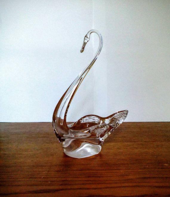 Swan Crystal Figurines Vase Bowl Candy Tableware by LucyMarket