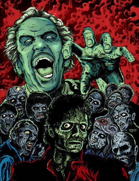 """Thriller"" zombies - Vincent Price is the one pictured top left. He made an…"