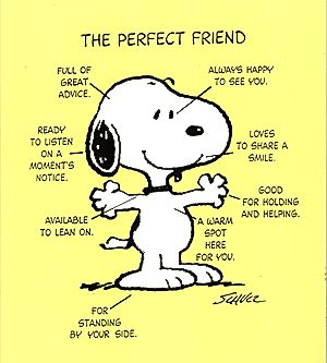 friendship what does it mean to be a friend snoopy snoopy