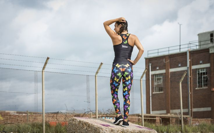 Tikiboo Butterfly Print Activewear #Activewear #Gymwear #FitnessLeggings #Leggings #Tikiboo #RainbowPrint #Running #Yoga #Butterfly