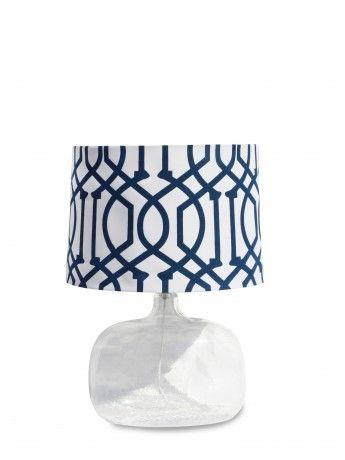 Olivia Clear & Blue Table Lamp 62cm x 44cm