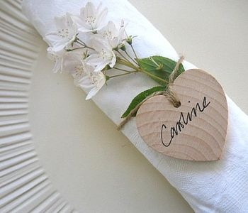 Wooden hearts for guest name places  /pin/219409813066055535/