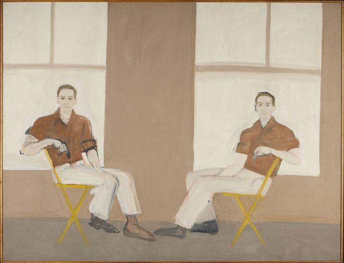 Alex Katz, Double Portrait of Robert Rauschenberg, 1959, oil on canvas, 66 x 85½ inches. PAUL J. SCHUPF LL.D. '06, HAMILTON, N.Y. LIFETIME TRUST, GREGORY O. KOERNER TRUSTEE