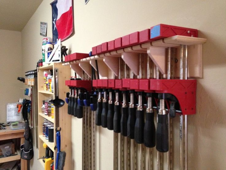 Woodworking Clamp Storage Ideas With Original Inspiration
