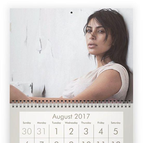 Fashion fan blog from industry supermodels: KIM KARDASHIAN 2017 calendar
