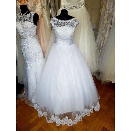bílé svatební šaty s krajkovými ramínky Brody M-L
