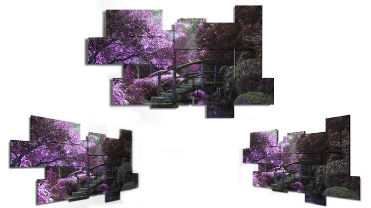 11 panels wall art - 198x123 cm