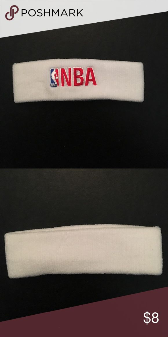 Brand-new NBA sweat band head band This is a brand-new never worn white NBA head sweat band nba Accessories