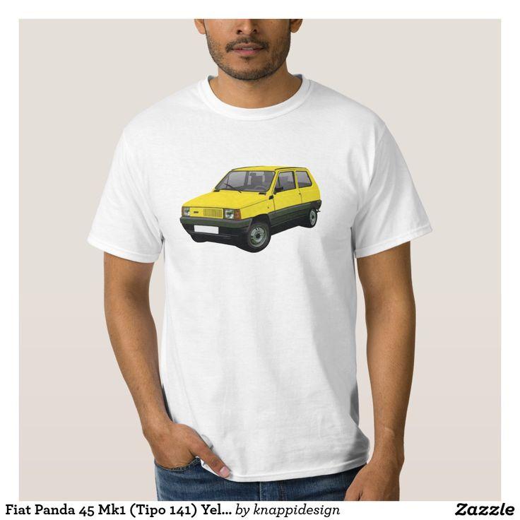 Fiat Panda 45 Mk1 (Tipo 141) Yellow Tee Shirt  #fiat #fiatpanda #tshirt #italia #italy #panda #thirts #80s #yellow