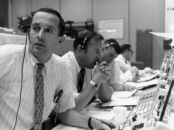 """64 Likes, 1 Comments - @apolloprogram on Instagram: """"Flight controllers Charlie Duke (Capcom), Jim Lovell (backup CDR) and Fred Haise (backup LMP)…"""""""