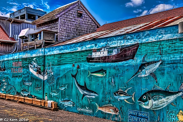 Pin by mostly peculiar on street art graffiti pinterest for Village fish market