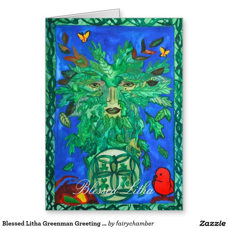 Blessed Litha Greenman Greeting Card