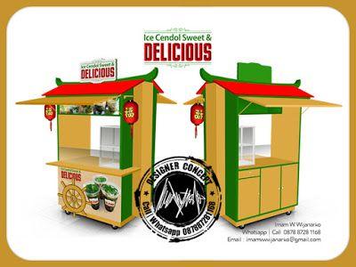 Desain dan Produksi Gerobak: Desain Gerobak Ice Cendol Sweet Delicious