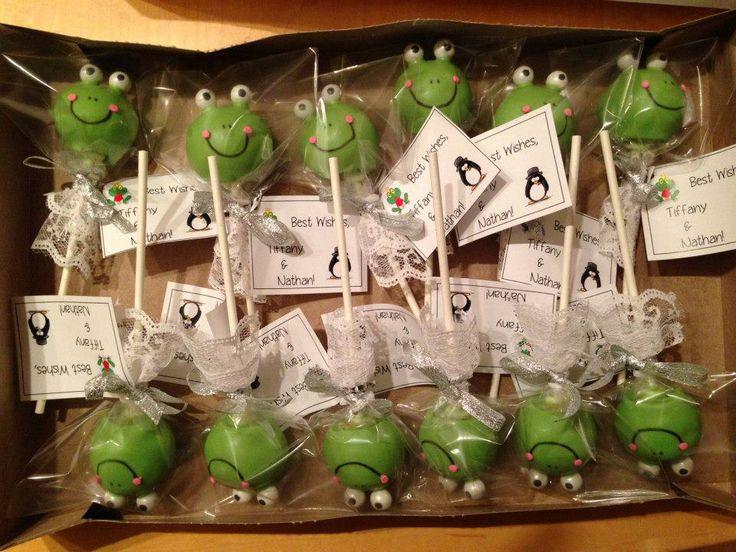 Frog Bride Cake Pops For Wedding Favors
