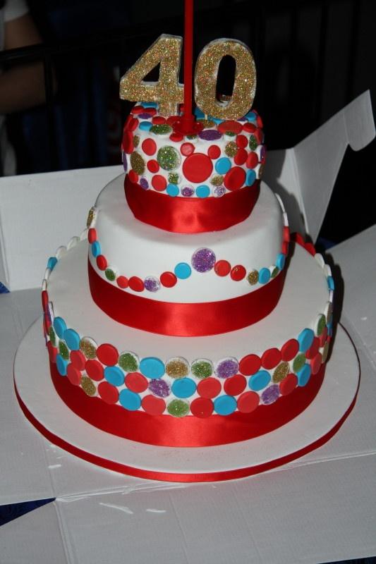 Torta Glitterata 40 Anni Di Mata