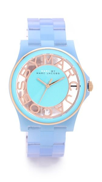 Love these colors together! Marc by Marc Jacobs HENRY SKELETON GRADIENT WATCH