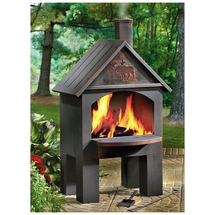 Outdoor Fireplace Kits Pit Grate Chiminea Wood Stove Oven ... on Quillen Steel Wood Burning Outdoor Fireplace id=57615