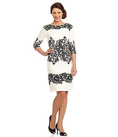 Adrianna Papell Printed Lace Sheath Dress #Dillards