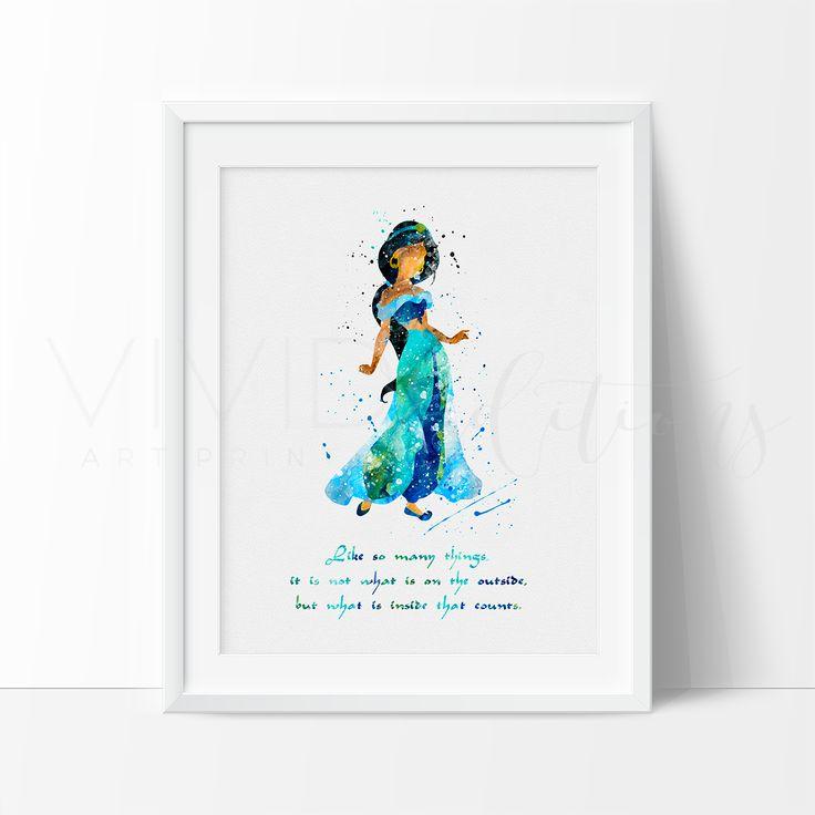 Princess Jasmine Quote Disney Girl Nursery Art Print Wall Decor