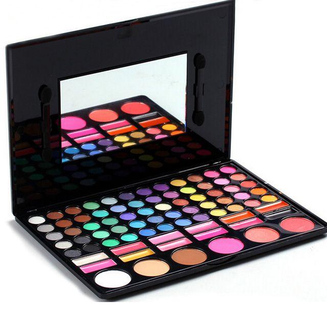 78 Цвет Профессиональный Макияж Палитра Теней Eye Shadow Косметический Набор блеск для губ и тени порошок