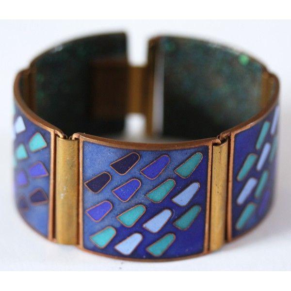 Cloisonné Enamel Bracelet, Scholz+Lammel - a true beauty + eye catcher in blue on www.allmodern.de