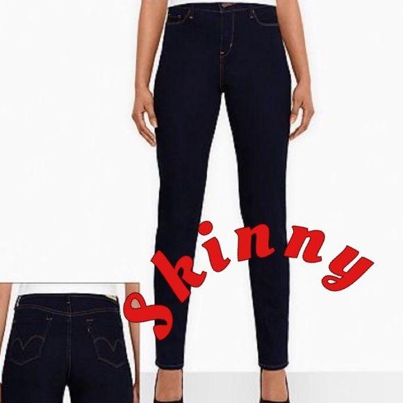 LEVIS SKINNY JEAN!! Worn twice! Too big! Waahh!!! Dark wash Levi's skinny jean!! Perfect amount of stretch! 31 inch inseam. Levi's Jeans