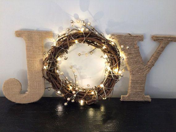 Joy sign, Christmas sign, Christmas mantle decor, Christmas decorations, Christmas door hanger, joy wreath, christmas sign, wooden christmas