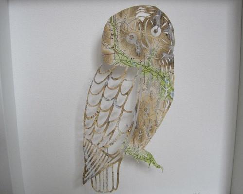 My Owl Barn: Melanie Richards: Four and Plenty. Owl from a map.