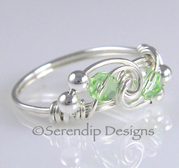 Wire Wrapped Ring Sterling Silver Twist by SerendipDesignsJewel, $24.00