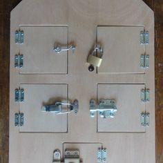 maison des serrures d 39 inspiration montessori jeux montessori pour un an pinterest serrure. Black Bedroom Furniture Sets. Home Design Ideas