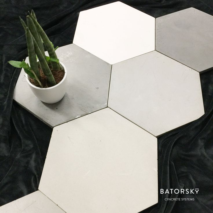 #batorsky #concrete #tiles #design #hexagonal