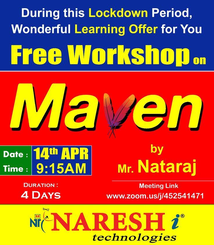 Attend Free Demo On MAVEN Online Training By Mr. Nataraj