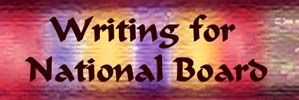 Wizzlewoof tips for National Board writing