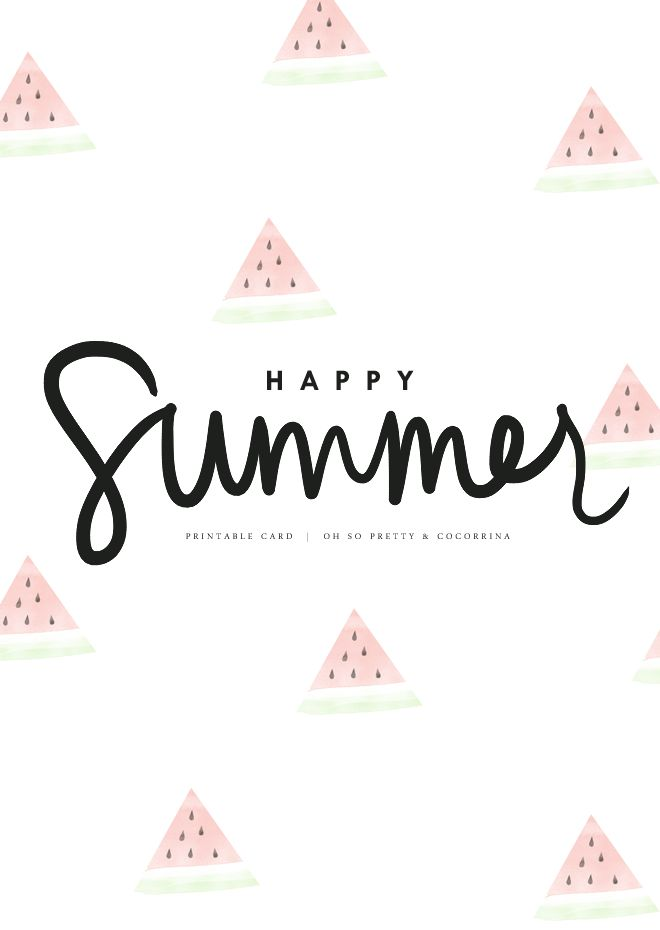 SUMMER PRINTABLE CARDS BY OH SO PRETTY
