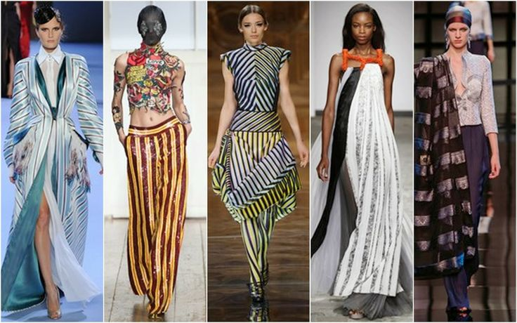 Stripes - Beautifully Fierce!: Paris Haute Couture: Spring 2014.
